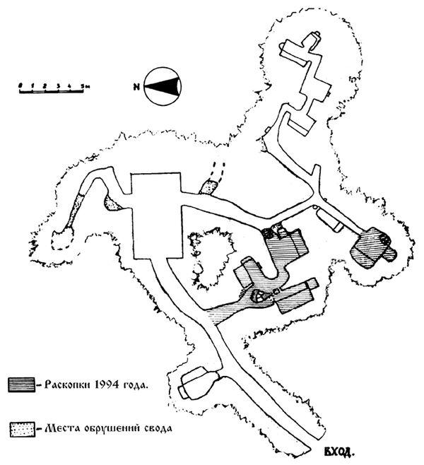 Карта киевских пещер